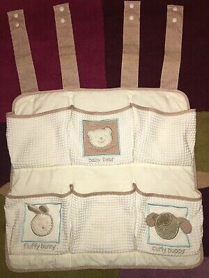 Cot Bed Toddler Bed Baby Hanging Pocket Nappy Organiser Baby Accessories Sorter