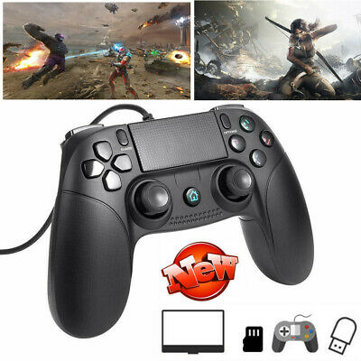 For PlayStation 4 Wired Game Controller Remote Control Gamepad Joypad for PS4