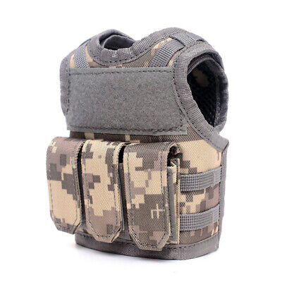 Tactical Beer Vest Adjustable Wine Bottle Cover Molle Miniature Beverage T3E1