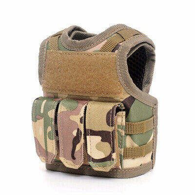 Tactical Beer Vest Adjustable Wine Bottle Cover Molle Miniature Beverage D8X1