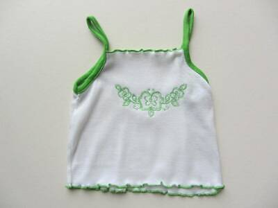 vintage 70's summer vest top beach holiday cool age 3-4 green