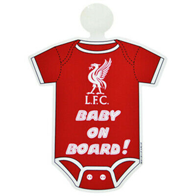 Official Liverpool FC Football Club Car Kit Baby On Board Sign NEW