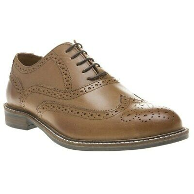 New Mens Red Tape Tan Cardew Leather Shoes Brogue Lace Up