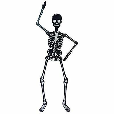 Way to Celebrate Two Glitter Halloween Silver Glitter Paper Skeletons, 36 in H