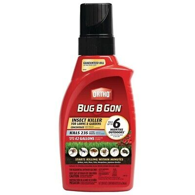 ORTHO Bug-B-Gon Lawn Garden 32 oz Insect Spider Killer Concentrated Formula