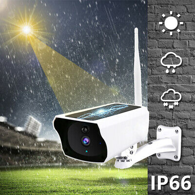 Outdoor Wireless Solar Camera WiFi 1080P Security IP67 Waterproof Night Vision