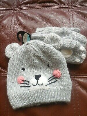 M And S Kids Girls Pull On Novelty Hat And Gloves Age 3-6 Years Bnwt