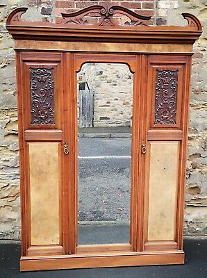 Edwardian Burr Walnut Wardrobe