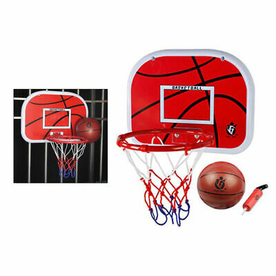 Kids Room Basketball Hoop and Hamper Laundry Clothes Hanging Door Basket Bag set
