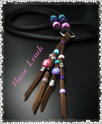 Cordeo Neck Rope with Beaded Leather Tassel