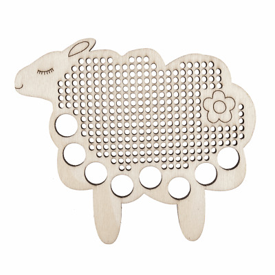 Embroidery Thread Floss holder sheep with cross stitch centre