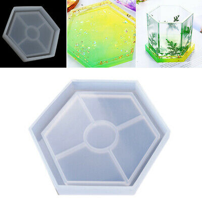 Clear Hexagon Silicone Mold for Coaster Making Dried Flower Soap Mold Resin