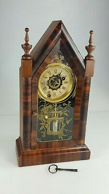 lovely antique American steeple alarm clock 1860s