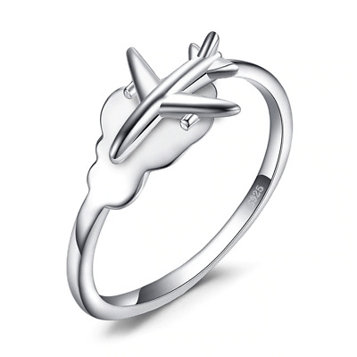 Flying Over Cloud 100% 925 Sterling Silver  Women Ring J01