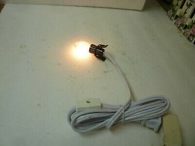 Halloween Christmas Village Replacement SINGLE CLIP LIGHT CORD - BLOW MOLD  .