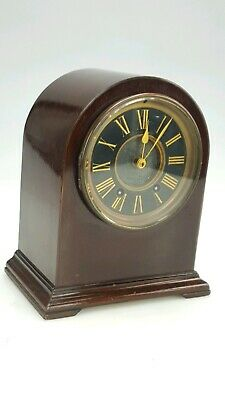 Mahogany Case French Mantle Clock in Working Order