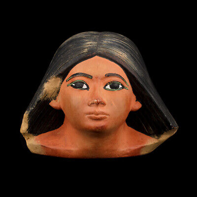 Head of Scribe Statue Old Kingdom Ancient Egyptian pharaohs Museum art Replica