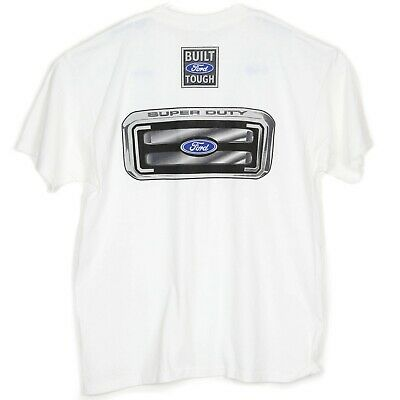 Ford Trucks T Shirt Size XL Super Duty Power Stroke Diesel White Grille Pick Up