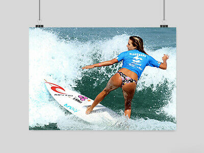 Surfer Girl Sexy Hot Girl Poster  Surfing Sport Sea Print A3 A4 Size