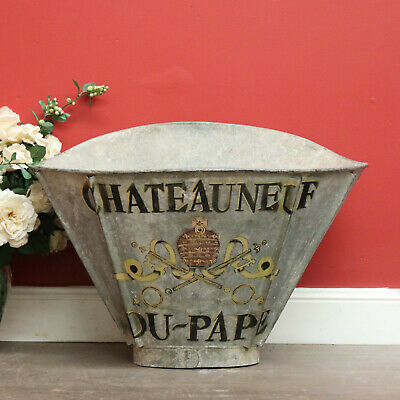 Antique French Grape Pickets Hob, Basket, Grape Harvesting Bin Bucket Pot Plant