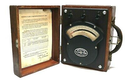 Weston #341 Voltmeter Tested and working