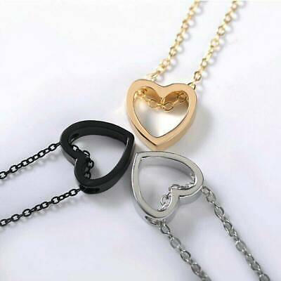 2019 Fashion Chic Women Heart Stainless Steel Chain Pendant Necklace Jewelry