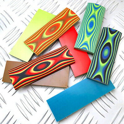 1 Pair New G10 Composite Resin Colorful Pattern DIY Scales Handle Slabs Patch