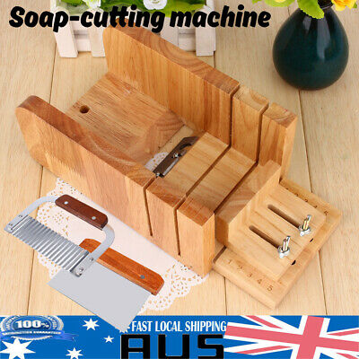 DIY Handmade Soap Tool Wooden Soap Loaf Mold Cutter Knife Soap Making Supplies