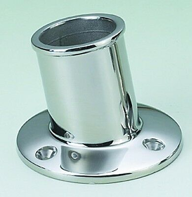 Boat Flag Pole Mounting Holder 316 Stainless Steel Recessed 35mm Freepost