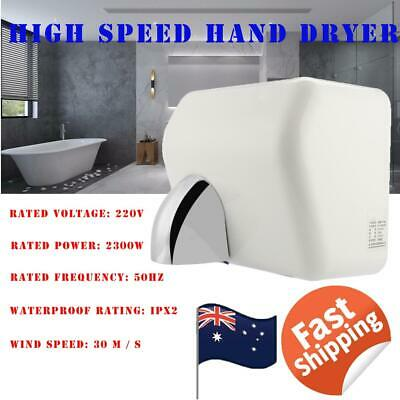 2300W Stainless Automatic Hand Dryer Fast Warm Air Drier Toilet Home Washroom