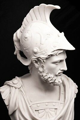 Marble Bust of Ajax the Great, Classical Sculpture. Art, Gift, Ornament.