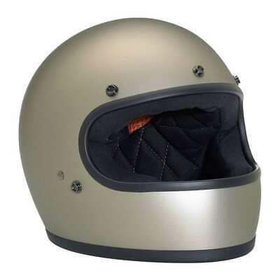 Biltwell Gringo DOT Rated Motorcycle Helmet - Flat Titanium | £70 Off RRP