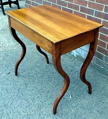 19th century antique Louis Philippe cherry 1 drawer hall console dressing table