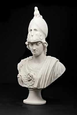 Athena the Greek Goddess of Wisdom Bust, Marble Sculpture, Art, Gift.