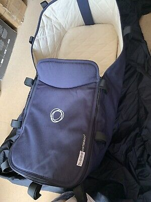 Bugaboo Cameleon 3 Navy Classic Blue Quilted Cream Carrycot Pram Outer & Apron