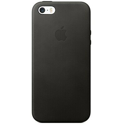 Orginal Apple Leather Leder Case Hülle Cover für iPhone SE 5 5s Schwarz Black