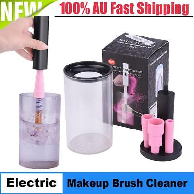 Electric Makeup Brush Cleaner And Dryer Set Includes Brush Collar Stand Gifts