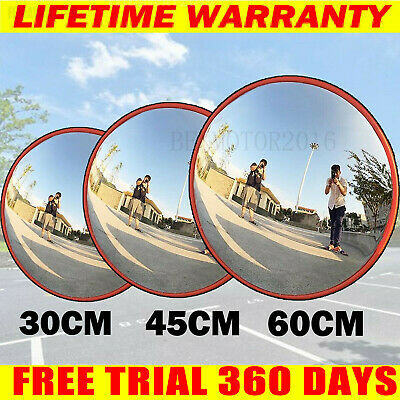 Large Wide Angle Mirror Security Curved Convex Road Traffic Driveway Round Safe