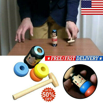 HOT SELL Magic Toy Unbreakable Wooden Man FOR Children Best Gifts Funny Daruma