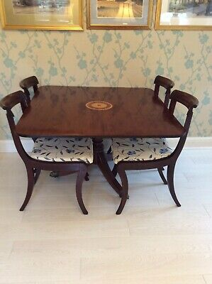 Original Regency Period Dining Table & Set Of 4 Chairs