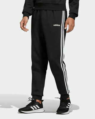 Adidas Pantaloni tuta Pants Nero cotone Essentials 3S Tapered Fleece