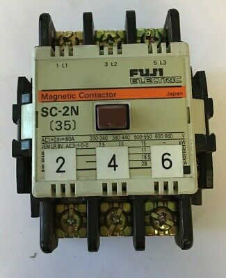 FUJI ELECTRIC 200-220//200-250V COIL AC MAGNETIC CONTACTOR SC-2N//SE