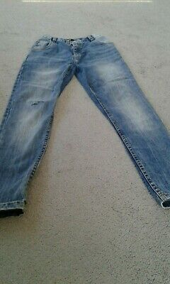 kids blue ripped jeans size 11 years skinny urban 65 outlaw