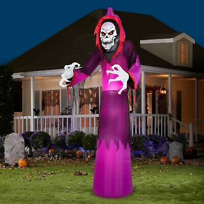 NEW Airblown Halloween Grim Reaper Outdoor Scary Yard Inflatable Decoration 12ft