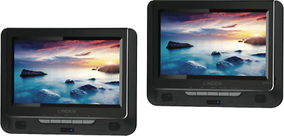 """NEW LINDEN L9DSCD17 9"""" Dual Screen Portable DVD Player"""