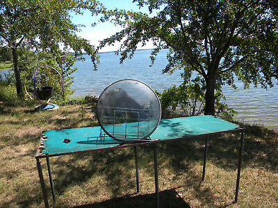 """1940s-50s  Porthole TV Screen Glass Round Curved With Gasket 21"""" For Project?"""