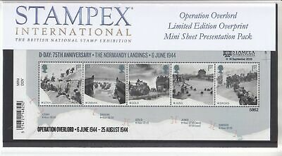 Autumn 2019 STAMPEX D DAY LANDINGS Overprint MS Presentation Pack ONLY 10 EXIST!