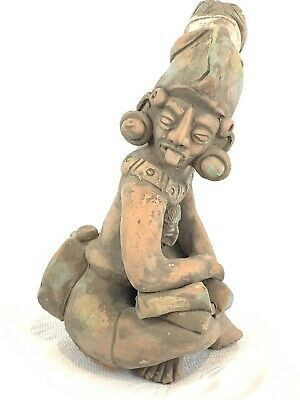 Reproduction Of A Pre Columbian Mayan Aztec Figure Made Hencho In Mexico