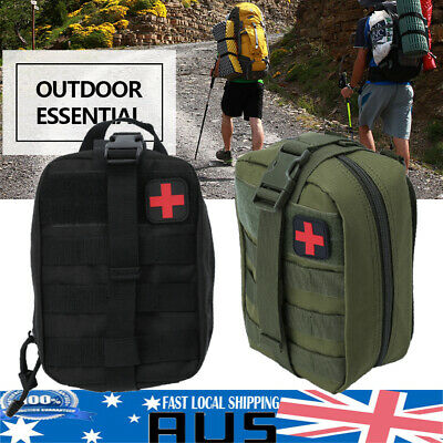 Durable First Aid Kit Bag Tactical Survival Molle Rip-Away EMT Medical Pouch AU