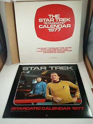 STAR TREK (STARDATE) CALENDARS 1977, 78, 79, 80, 81. All but 81 have orig box